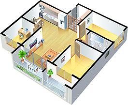 家裝裝飾裝修布局素材設計