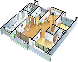 卡通三維房地產裝飾效果圖