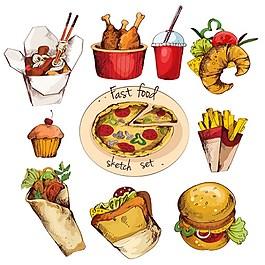 美味食物元素矢量圖
