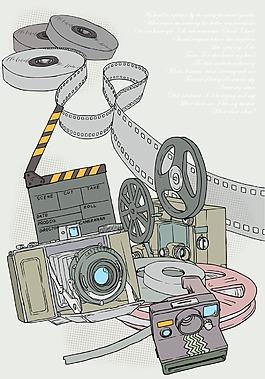 卡通相機電影放映機