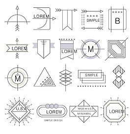 線框符號設計背景素材