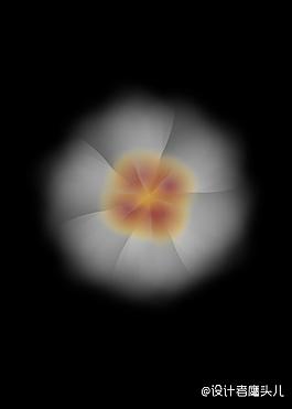 白色花型矢量圖
