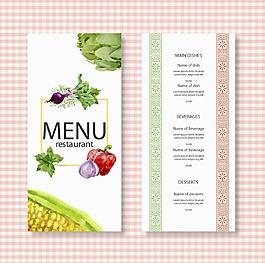 彩繪蔬菜餐館菜單