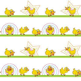 各种黄色小鸭子插图图案