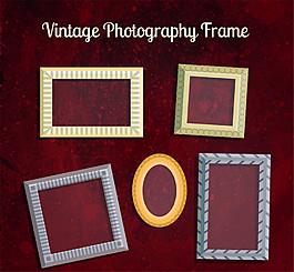 5款復古相框設計矢量素材