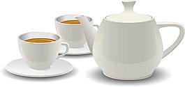 簡單白色茶幾圖片