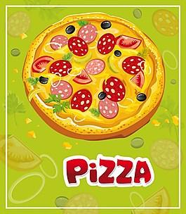 美味披薩素材圖片