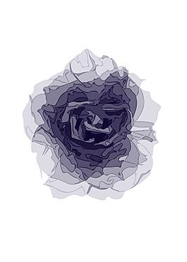 紫色花矢量圖