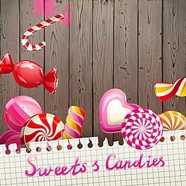 粉色糖果背景圖