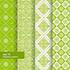 綠色花紋背景素材