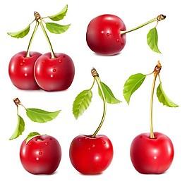 櫻桃水果背景素材