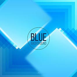 蓝色几何图形抽象背景