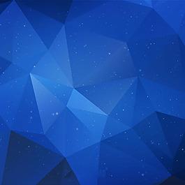 蓝色多边形几何形状背景
