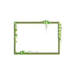 簡約綠色邊框元素