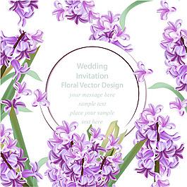寫實風格紫色裝飾花邊背景