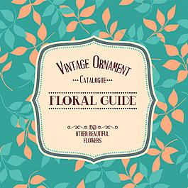 植物花卉主题装饰边框图案婚礼邀请卡