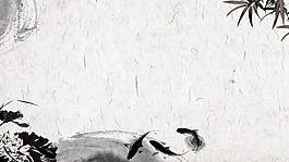 中國風水墨風景畫背景