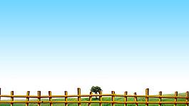 簡約藍天圍欄背景
