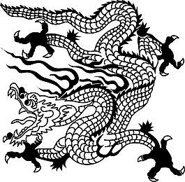 卡通中國龍素材設計