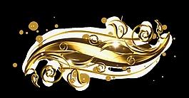 金色花纹素材视频背景设计