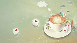 卡通手绘下午茶背景
