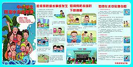 小学生防溺水安全教育展板