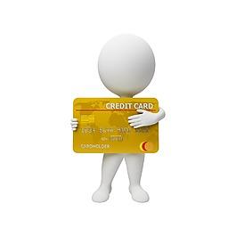 3D立体银行卡小人元素