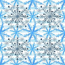 雪花图案无缝拼接图片