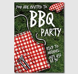 創意燒烤派對邀請卡海報矢量素材