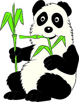 吃竹子的熊貓