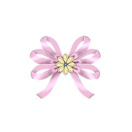 清新粉色蝴蝶結元素