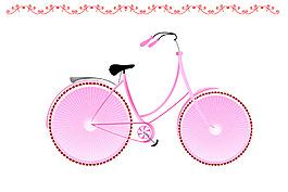 自行车装饰画素材