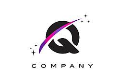 Q字母標志設計圖片