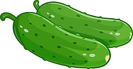 卡通的黃瓜
