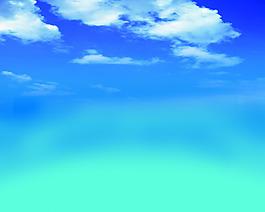 藍天白云背景