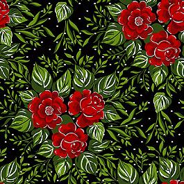 卡通花朵樹葉背景圖片