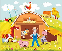 卡通动物农场
