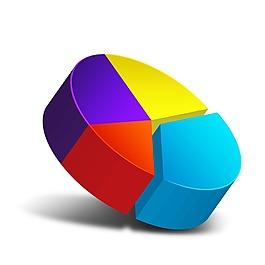 彩色比例分布元素