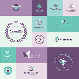 紫色清新商標設計