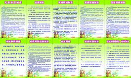 幼兒園制度牌展板