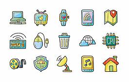 app卡通按鈕圖標圖片