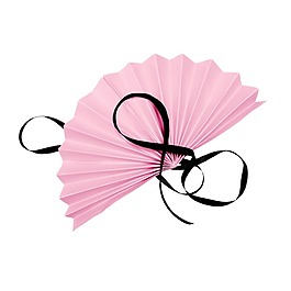唯美清新粉色扇子元素
