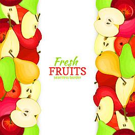 卡通水果背景邊框圖片