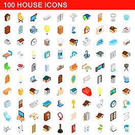 卡通家庭家具圖標圖片