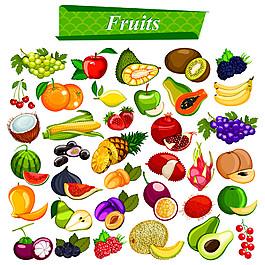 新鮮水果漫畫圖片