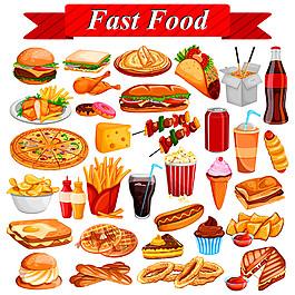 卡通快餐美食漫畫圖片1