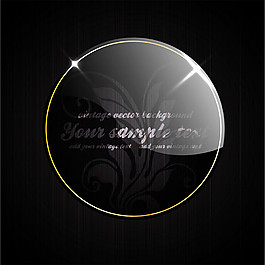 水晶标签黑色背景图片