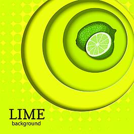 卡通檸檬圓環背景圖片