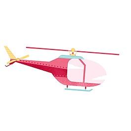 手繪粉色飛機元素
