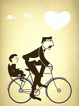 父亲节骑自行车